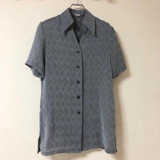 サンタモニカ(Santa Monica)の古着シャツ 柄シャツ デザインシャツ ポリシャツ(シャツ/ブラウス(半袖/袖なし))
