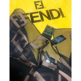 フェンディ(FENDI)の☆未使用 FENDI シフォンロングスカーフ(バンダナ/スカーフ)