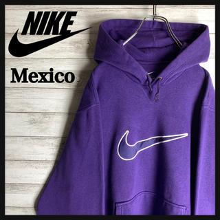 NIKE - 【メキシコ製】ナイキ☆ビッグロゴ入りパーカー 希少カラー 刺繍ロゴ 定番 美品