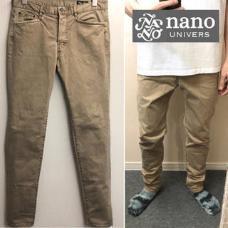 ナノユニバース(nano・universe)のnano universチノパン テーパードパンツカジュアルパンツベージュパンツ(チノパン)
