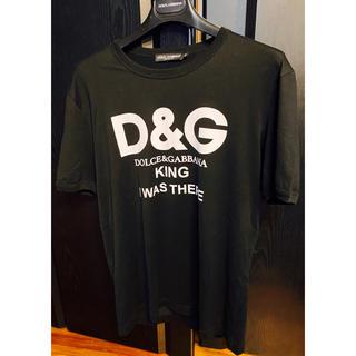 ドルチェアンドガッバーナ(DOLCE&GABBANA)の新品同様ドルチェ&ガッバーナD&GブラックTシャツMロゴマニア2019KING(Tシャツ/カットソー(半袖/袖なし))