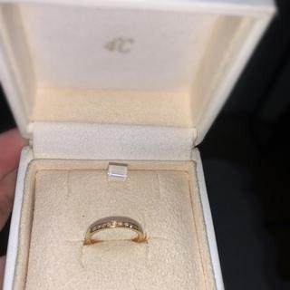 4℃ - 4℃ 18K イエローゴールド ダイヤモンド 5号