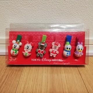 ディズニー(Disney)のSNOOMY様専用【未使用】Disney 30周年クリスマス限定クリップセット(キャラクターグッズ)