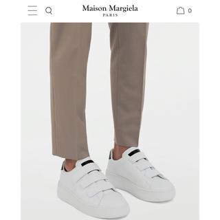 マルタンマルジェラ(Maison Martin Margiela)のmaison margielaメゾンマルジェラウェッジレザーテニススニーカー43(スニーカー)
