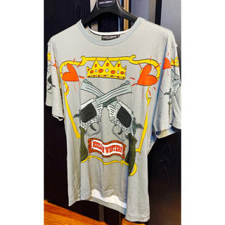 ドルチェアンドガッバーナ(DOLCE&GABBANA)の新品同様ドルチェ&ガッバーナD&Gピストル48プリントTシャツ半袖2018ss(Tシャツ/カットソー(半袖/袖なし))