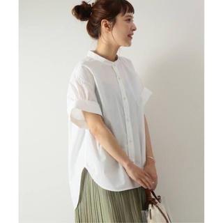 Spick and Span - ホワイト Spick & Span パールボタンタックスリーブシャツ