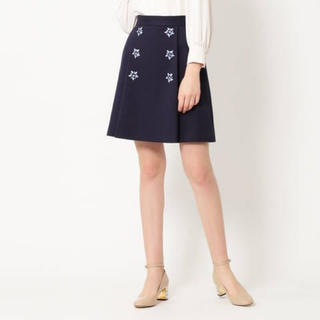 JILLSTUART - フラン台形型スカート(ネイビー)