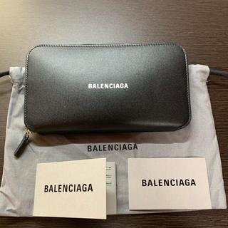 新品 バレンシアガ キャッシュ 長財布 ラウンドファスナー ウォレット ブラック