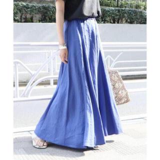 Plage - Plage Linen フレアスカート ブルー 36