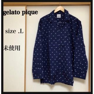 ジェラートピケ(gelato pique)の【未使用】gelato pique homme スター柄パジャマシャツ L(その他)