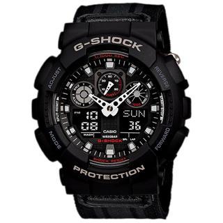 ジーショック(G-SHOCK)の美品 G-SHOCK 電池新品 GA-100MC CASIO ミリタリー(腕時計(デジタル))