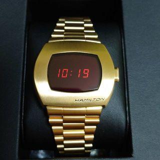 ハミルトン(Hamilton)の【世界1970本限定】hamilton PSR イエローゴールド 限定BOX付き(腕時計(デジタル))