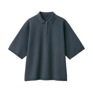 ムジルシリョウヒン(MUJI (無印良品))の無印良品 ミラノリブ編みポロ衿半袖プルオーバー(カットソー(半袖/袖なし))