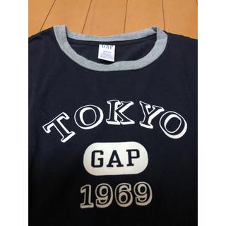 ギャップ(GAP)の美品 GAP  レディースTシャツ 濃紺 M相当(Tシャツ(半袖/袖なし))