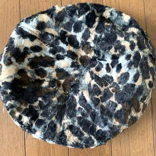 ミサハラダ(misaharada)のミサハラダロンドン レオパード柄ベレー帽(ハンチング/ベレー帽)