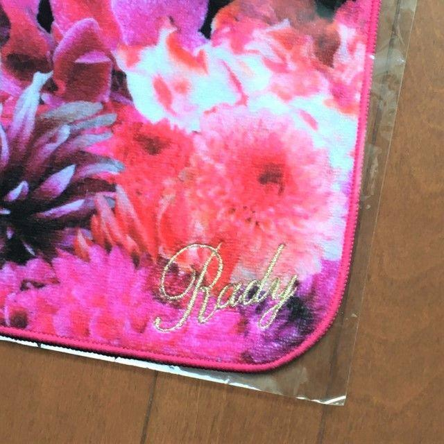 Rady(レディー)の【新品未開封】Rady リゾートフラワー ハンドタオル 黒 リゾフラ ハンカチ レディースのファッション小物(ハンカチ)の商品写真