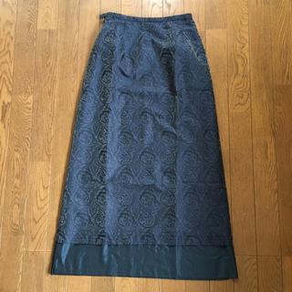 ロイスクレヨン(Lois CRAYON)のペイズリー柄 濃紺シックなスカート(ロングスカート)