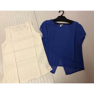 ◆新品タグなし◆大きいsizeXL◆カットソーset(カットソー(半袖/袖なし))