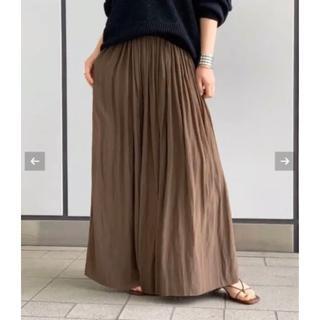 ドゥーズィエムクラス(DEUXIEME CLASSE)のサテンギャザースカート(ロングスカート)