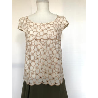 PROPORTION BODY DRESSING - プロポーションボディドレッシング 花柄 カットソー ブラウス トップス  半袖