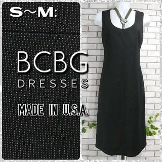 BCBGMAXAZRIA - S~M: Iラインワンピース/BCBG★超美品★ブラック