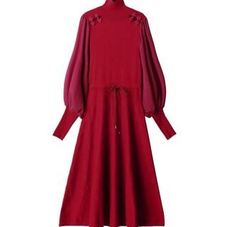 PAMEO POSE - 新品未使用タグつき【PAMEO POSE】Mandarin Knit Dress