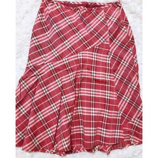 バーバリー(BURBERRY)の【美品】BURBERRY  バーバリーノバチェック スカート (ひざ丈スカート)