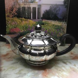 マイセン(MEISSEN)のフランス製 純銀 スターリングシルバー ティーポット(食器)