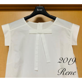 ルネ(René)の新品未使用 Rene♡2019年 おリボンカメリアボタンブラウス(シャツ/ブラウス(半袖/袖なし))