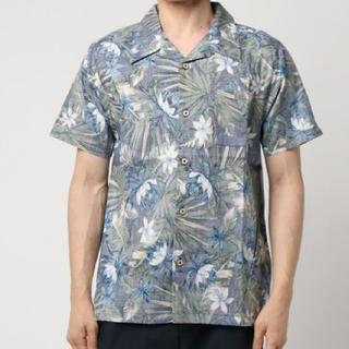 アドポーション(ADPOSION)の新品★ADPOSION 裏プリントボタニカルシャツ Mサイズ(シャツ)