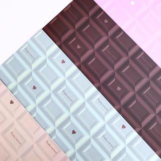 オリジナル デザインペーパー チョコレート A4 4色セット(カード/レター/ラッピング)