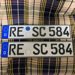 フォルクスワーゲン(Volkswagen)の584 本物 ユーロナンバープレート ドイツ BMW ベンツ アウディポルシェ(車外アクセサリ)