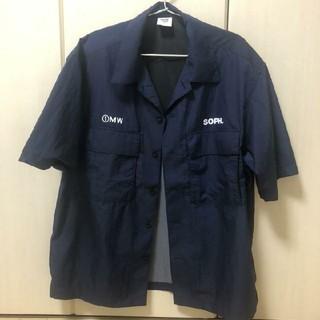 ジーユー(GU)の【M】 ネイビー 1MW by SOPH. GUオープンカラーシャツ(シャツ)