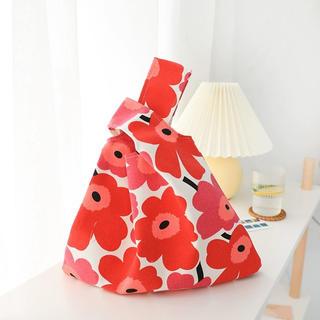 マリメッコ(marimekko)の北欧風 トートバッグ ハンドバッグ エコバッグ 花柄 マリメッコ風 ミニバッグ(ハンドバッグ)
