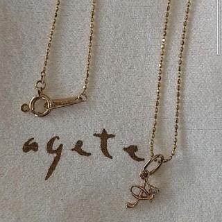 agete - アガット k10 イニシャルネックレス