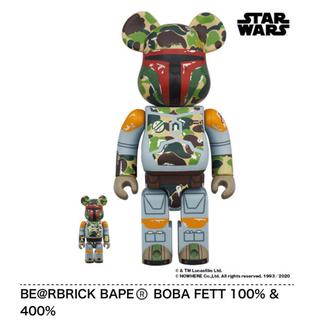 メディコムトイ(MEDICOM TOY)のBE@RBRICK BAPE®️ BOBA FETT 100% & 400%(キャラクターグッズ)