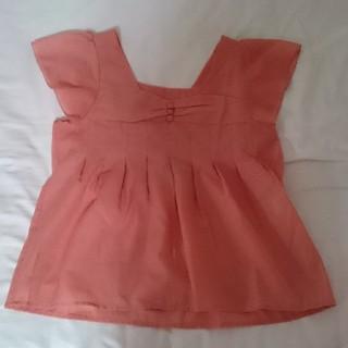 ナチュラルクチュール(natural couture)のサーモンピンク スクエア襟 ブラウス(シャツ/ブラウス(半袖/袖なし))