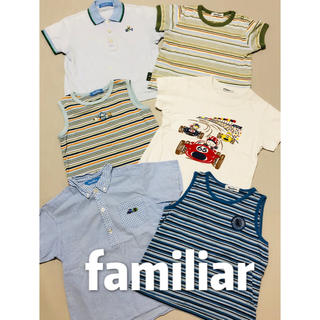familiar - ファミリア FAMILIAR 夏物 半袖 Tシャツ  6点セット 110 120