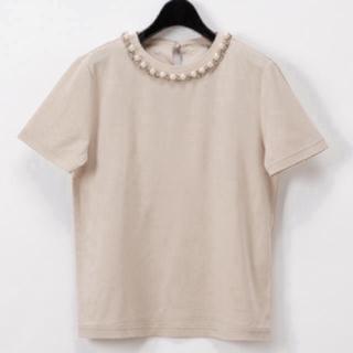 グレースコンチネンタル(GRACE CONTINENTAL)のグレースコンチネンタル パールチェーントップ(Tシャツ(半袖/袖なし))