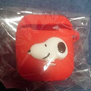 スヌーピー(SNOOPY)の新品 スヌーピー エアーポッズケース 赤色(モバイルケース/カバー)