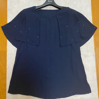 ルネ(René)のルネ ブラウス 34 ネイビー (シャツ/ブラウス(半袖/袖なし))