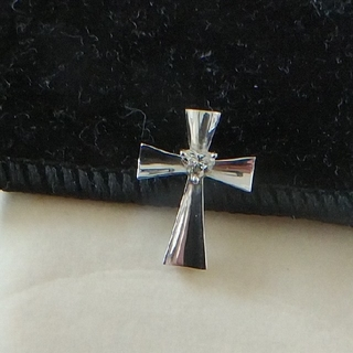 ミツコシ(三越)のハート型ダイヤ ペンダントトップ(ネックレス)