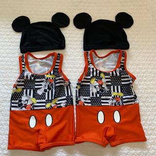 ミッキーマウス Disney Mickey ベビー 水着 80 双子
