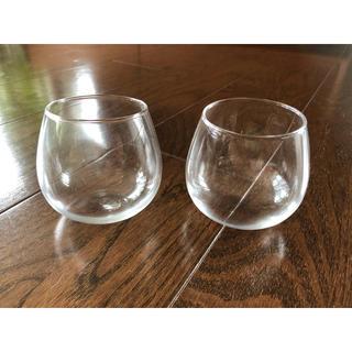 パリ購入 アンティーク ガラスコップ ボウルカップ 2個セット(グラス/カップ)