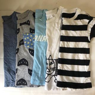 ユニクロ(UNIQLO)のUNIQLO 無地良品 男の子 半袖Tシャツ 80 5枚 ユニクロ(Tシャツ)