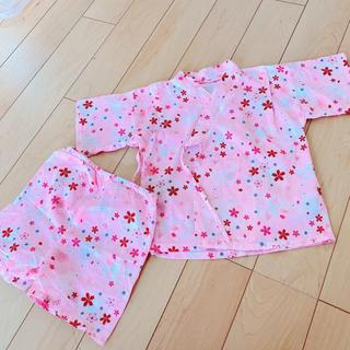 ニシマツヤ(西松屋)の甚平上下セット 子供 ベビー 浴衣 95cm(甚平/浴衣)