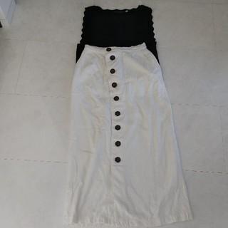 ココディール(COCO DEAL)のリネンスカート スカラップ(ロングスカート)
