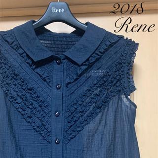 ルネ(René)のRene♡ 2018年 シャーリングフリルブラウス(シャツ/ブラウス(半袖/袖なし))