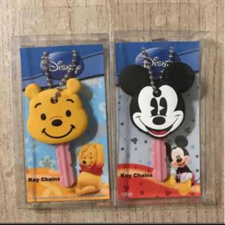 Disney - ディズニー フェイス キーカバー ミッキー&プーさん 2個セット