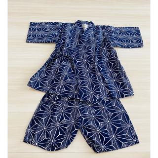 甚平 男の子 120  ネイビー(甚平/浴衣)